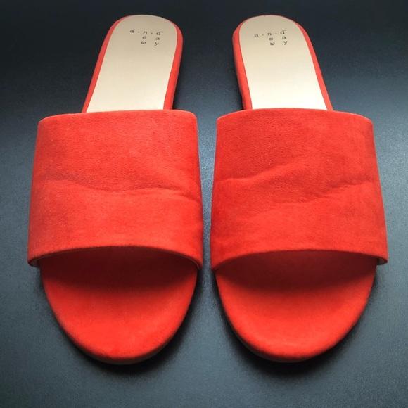 Red Slip On Sandals | Poshmark